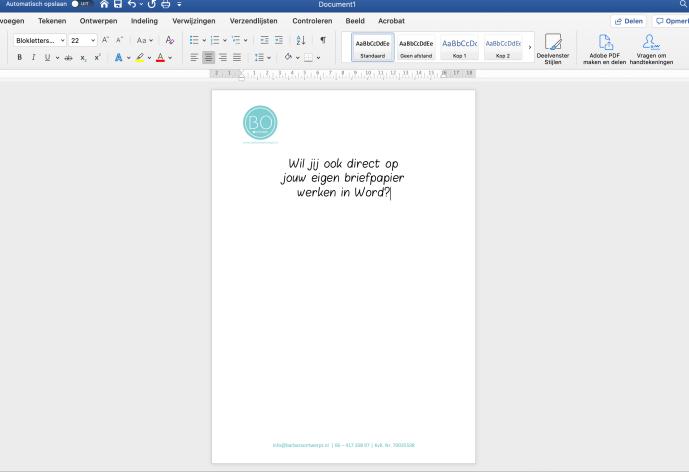 Briefpapier Word